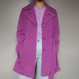 Fuschia Trench Coat